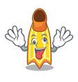 crazy swim fin mascot cartoon vector image vector image