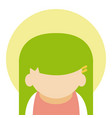 cute girl avatar vector image
