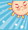 cute sun cartoon vector image vector image