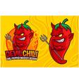 devil chili pepper mascot design vector image vector image