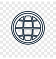 earth grid concept linear icon isolated on vector image