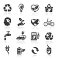 Ecology icons set1 vector | Price: 1 Credit (USD $1)