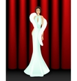 Elegant women on stage vector image vector image