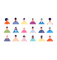 face users picture profile people avatars vector image