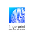 fingerprint logo vector image