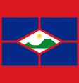 flag of sint eustatius vector image