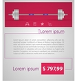 Flat minimalist template business design Barbell vector image vector image