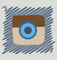 flat web icon of modern lineart camera digital vector image vector image
