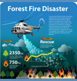 forest fire disaster vector image