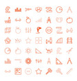 geometric icons vector image vector image