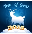 goat symbol of year vector image