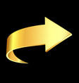 gold arrow business vector image