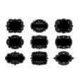 label ornamental black frames vintage set vector image vector image