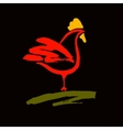 logo Rooster Products from chicken meat vector image