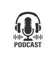 podcast studio icon vector image