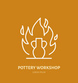 pottery workshop ceramics classes line icon clay vector image vector image