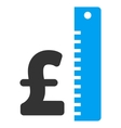 Pound Rate Flat Icon Symbol vector image vector image