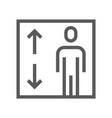 public navigation line icon elevator vector image vector image