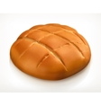 Round bread icon vector image