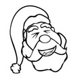 santa claus face outline vector image vector image