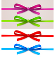 set bow vector image vector image