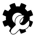 setting black tool white vector image vector image