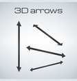simple double sided arrows in different vector image vector image