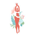smiling woman with beautiful body wearing in vector image vector image