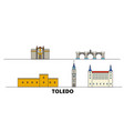 spain toledo flat landmarks vector image vector image