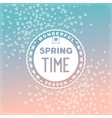 Spring time wonderful season vector image vector image