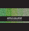 square pattern set apple lollipop seamless tile vector image vector image