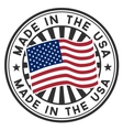 Stamp with flag of the USA Made in the USA vector image