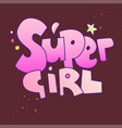super girl lettering with gradient colors vector image vector image