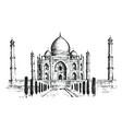 taj mahal an ancient palace in india landmark or vector image vector image