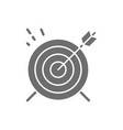 target goal grey icon isolated on white vector image