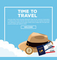 time to travel infographic vector image