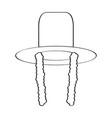 traditional jewish hat icon vector image