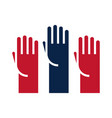 united states elections raised hands campaign vector image vector image
