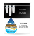 water filters visiting card vector image vector image
