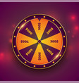 wheel luck fortune on bokeh background vector image