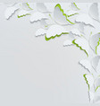 white butterflies on a white background vector image vector image
