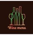 wine menu card design vector image vector image