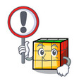 with sign rubik cube character cartoon vector image