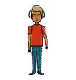 young man with earphones avatar character vector image vector image
