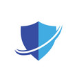 shield arrow logo combination image vector image