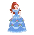 beautiful brunette princess in vector image