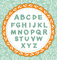 English alphabet Letter on the floral background vector image