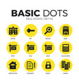 real estate flat icons set vector image