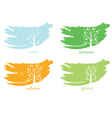 Abstract icon of tree vector image vector image