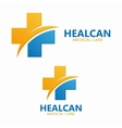 Abstract medical hospital logo template vector image